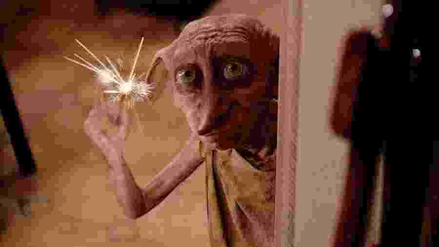 """Dobby em cena de """"Harry Potter e a Câmara Secreta"""" (2002) - Divulgação"""
