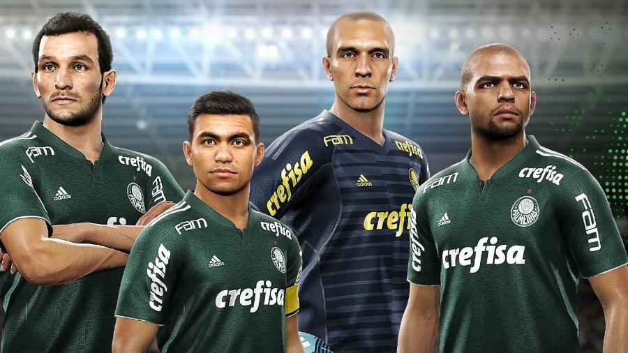 Palmeiras fechou acordo para últimos anos, mas não entrou em acordo para próxima temporada - Divulgação/Konami