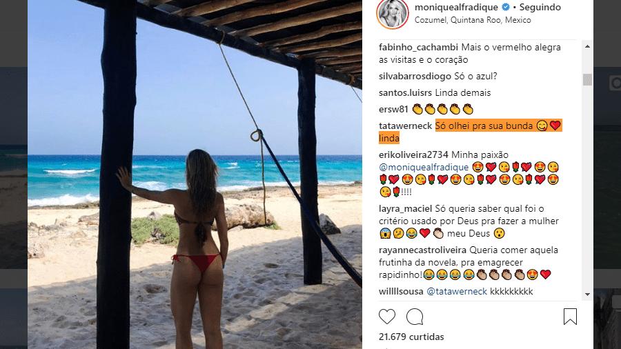 Tatá Werneck comenta foto de Monique Alfradique - Reprodução/Instagram