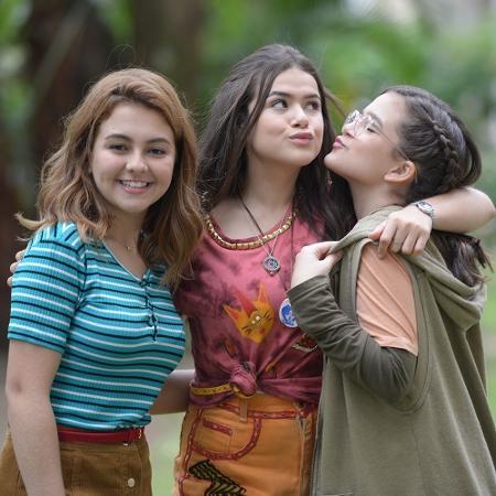 """Klara Castanho, Maisa e Mel Maia nos bastidores do filme """"Tudo por Um Popstar"""" - Reprodução/Instagram/dtfilmes"""