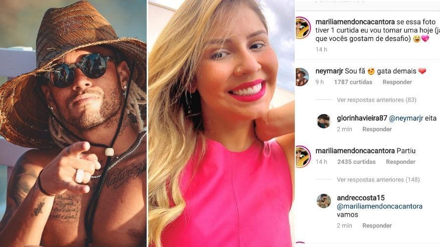 Neymar elogiou foto de Marília Mendonça - Reprodução/Instagram