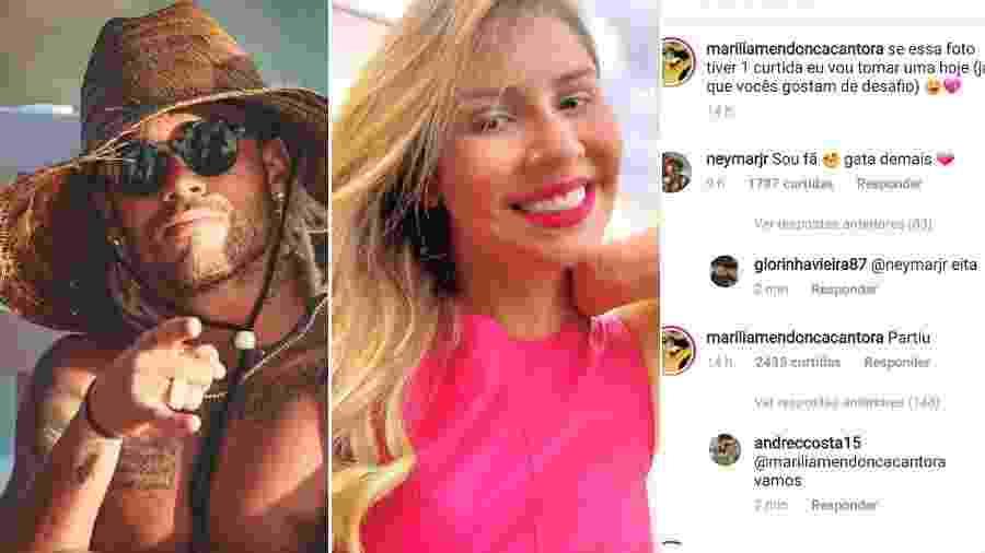 Neymar elogia foto de Marília Mendonça - Reprodução/Instagram
