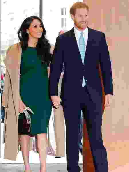 Meghan Markle e o Príncipe Harry anunciam afastamento da família real - Tolga AKMEN / AFP