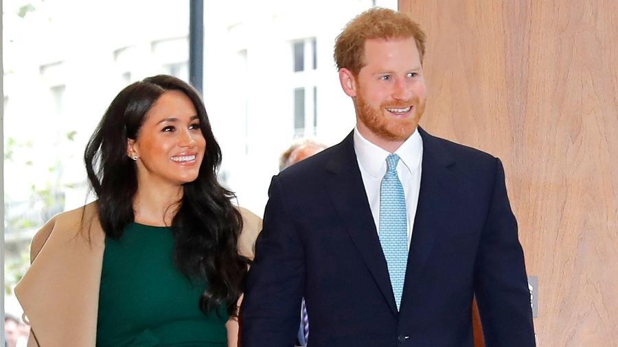 Meghan Markle e Príncipe Harry durante evento  - Tolga AKMEN / AFP