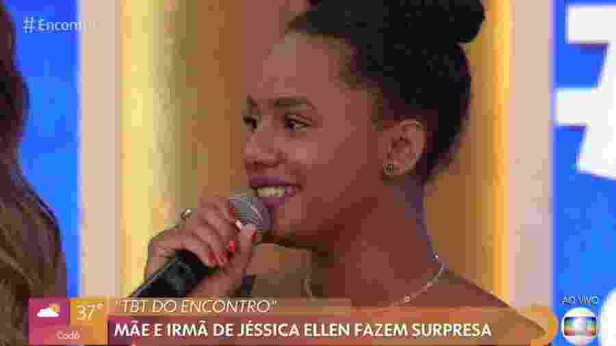 Jéssica Ellen durante o Encontro com Fátima Bernardes de hoje - Reprodução/Globo