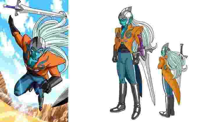 Zahha é trazido ao presente para participar do Torneio do Tempo, e é um dos aliados de Shallot. - Reprodução