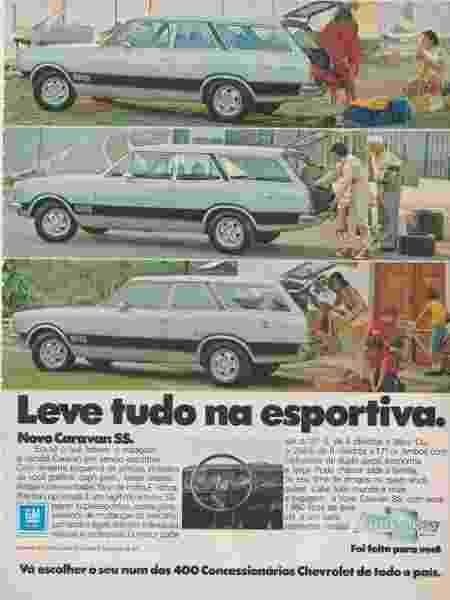 Chevrolet Caravan SS 1978 Alexandre Badolato coleção colecionador motor 6 cilindros propaganda - Arquivo pessoal - Arquivo pessoal