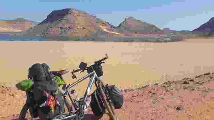 Uma das fascinantes paisagens exploradas de bike por Sara - Arquivo pessoal - Arquivo pessoal