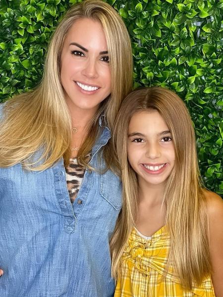 Joana Prado ao lado da filha, Kyara - Reprodução/Instagram