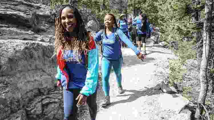 Vanessa Garrison, cofundadora do GirlTrek, durante caminhada promovida pelo grupo - Jati Lindsay/GirlTrek - Jati Lindsay/GirlTrek