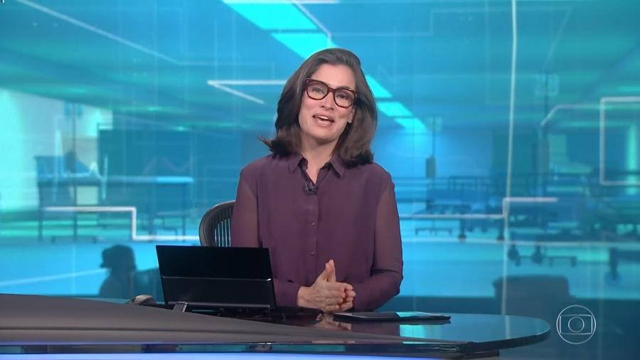 Renata Vasconcellos no Jornal Nacional - Reprodução/GloboPlay