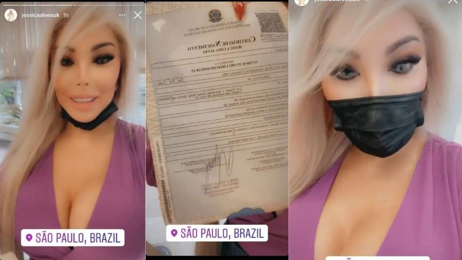Jessica Alves mostra nova certidão de nascimento - Reprodução/Instagram