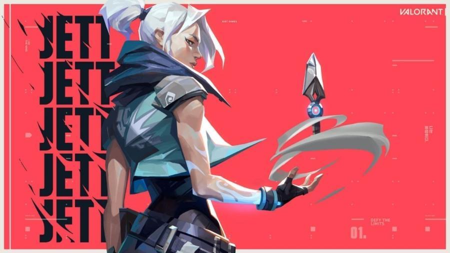 Jett, agente do VALORANT, recebe nerf na nova atualização - Divulgação/Riot Games