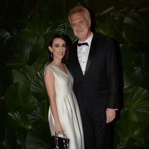 Maria Prata e Pedro Bial no Brazil Foundation 2016