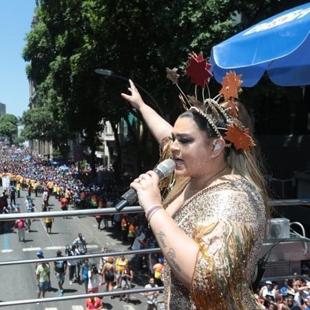 Preta Gil comanda o oitavo desfile do Bloco da Preta, no Centro do Rio - Fernando Souza/Bloco da Preta