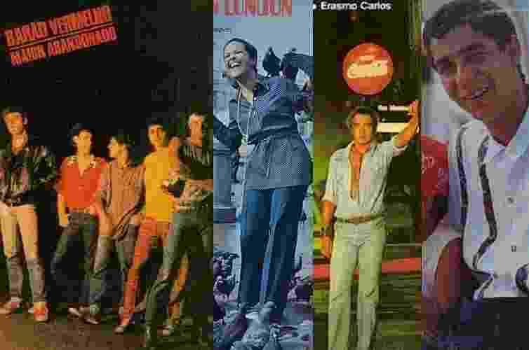 Antes e depois das capas de discos nacionais - Reprodução/Montagem
