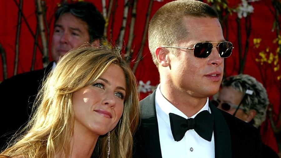 Brad Pitt e Jennifer Aniston, quando eram casados - Getty Images