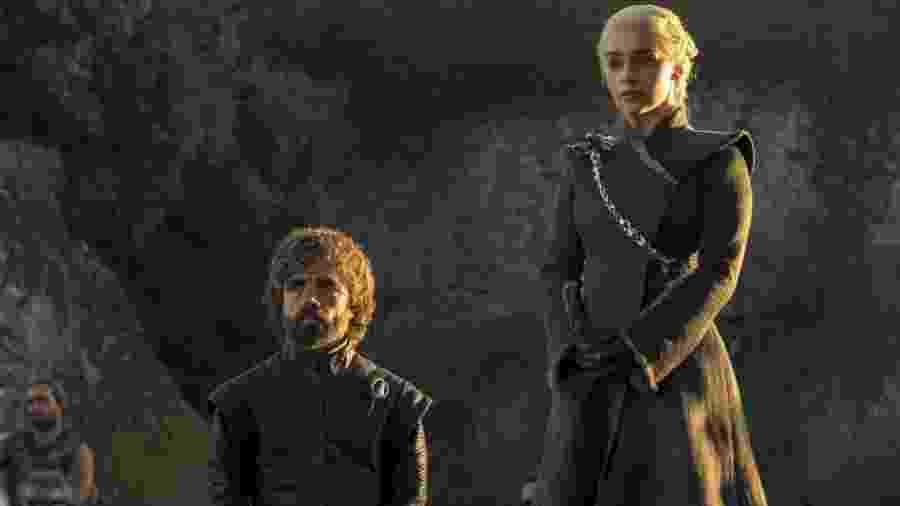 """Tyrion Lannister e Daenerys Targaryen em cena do quinto episódio da 7ª temporada de """"Game of Thrones"""" - Divulgação"""