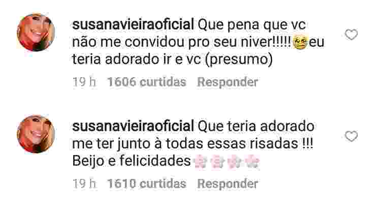 Susana Vieira ficou triste por não ter sido convidada para o festão de Tatá Werneck - Reprodução/Instagram - Reprodução/Instagram