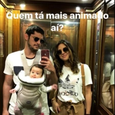 Bruno Gissoni e Yanna Lavigne com Madalena - Reprodução/Instagram/brunogissoni