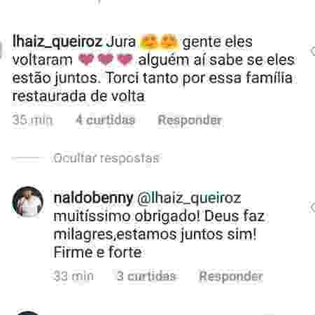 """Naldo confirma que reatou com Moranguinho: """"Estamos juntos"""" - Reprodução/Instagram - Reprodução/Instagram"""