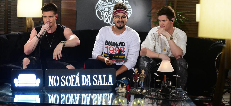 Com novo corte de cabelo, Luan Santana participa de DVD de cunhado, o cantor sertanejo Breno, da dupla Breno e Caio César - Leo Franco/AgNews