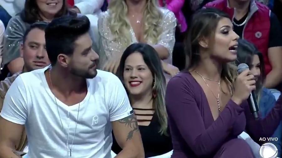 """Diego e Franciele na final do """"Power Couple Brasil"""" - Reprodução/TV Record"""