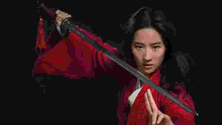 """Liu Yifei como heroína de """"Mulan"""" - Divulgação/Walt Disney"""