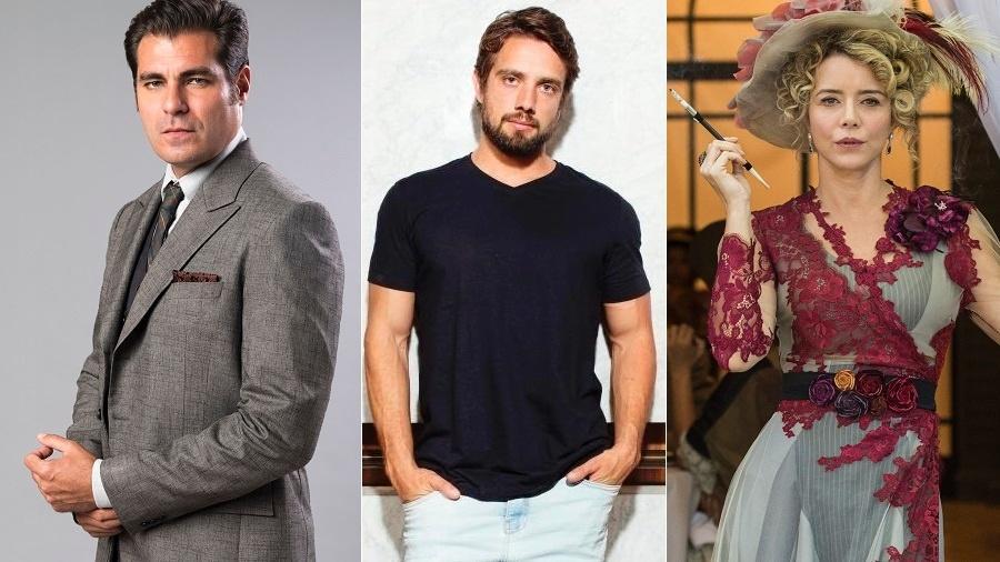 Thiago Larcerda, Rafael Cardoso e Christine Fernandes não escondem desejo de deixar o país - Montagem/UOL