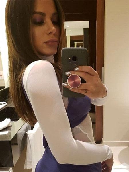 Anitta antes de show em Vargem Grande Paulista (SP) - Reprodução/Instagram/@anitta