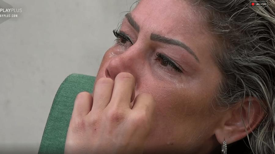 Catia Paganote tem crise de choro após perder a prova do fazendeiro - Reprodução/Play Plus