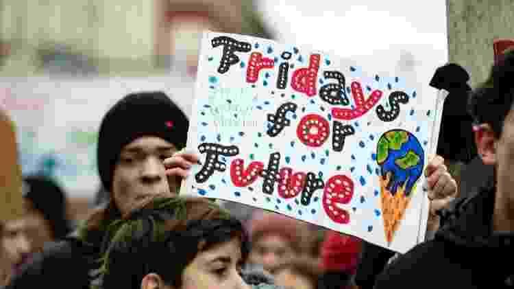 Jovens do mundo inteiro aderiram ao movimento, que ficou conhecido como 'Fridays For Future' - Getty Images - Getty Images