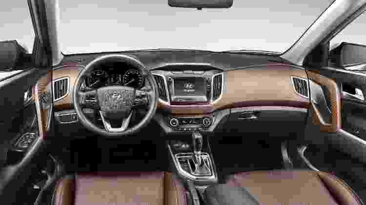 Série limitada Launch Edition traz cabine com acabamento marrom e bancos mesclando couro sintético e tecido - Divulgação