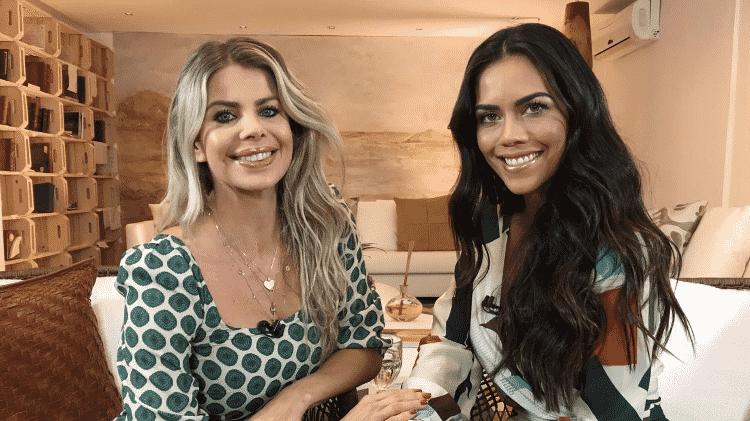 Karina Bacchi é entrevistada por Daniela Albuquerque no Sensacional - Divulgação/RedeTV! - Divulgação/RedeTV!