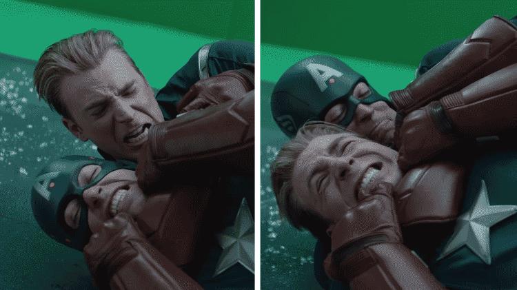 Os bastidores da luta entre Capitães América em Vingadores: Ultimato - Reprodução/YouTube - Reprodução/YouTube