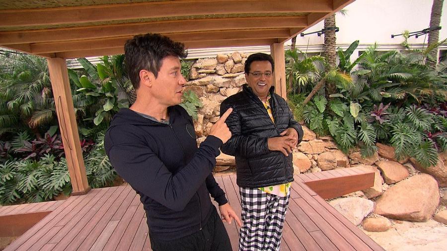 """Rodrigo Faro mostrou mansão que está construindo no programa """"Domingo Show"""", neste domingo (18) - Divulgação"""