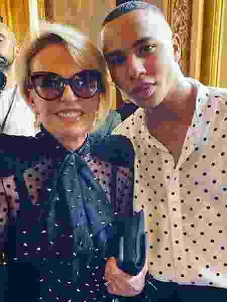 Ana Maria Braga e o estilista da Balmain, Olivier Rousteing - Reprodução/Instagram