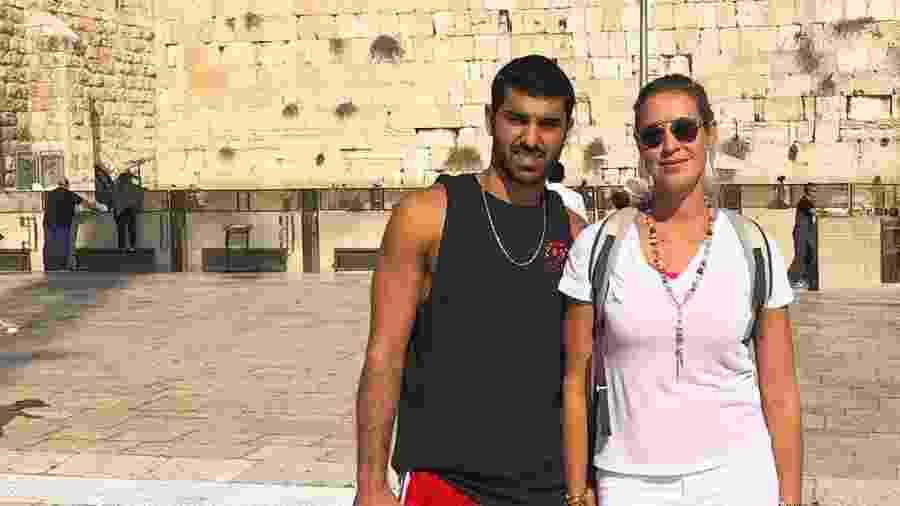Luana Piovani ao lado de Ofek Malka em Israel - Reprodução/Instagram
