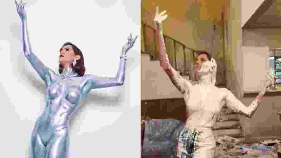 Deborah Secco: Com sua fantasia para o Baile da Vogue e como Josimara - Reprodução/Instagram