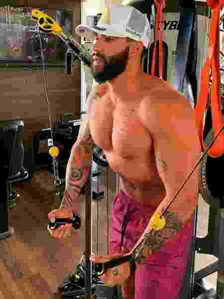 Gusttavo Lima: treino durante a quarentena - Reprodução/Instagram