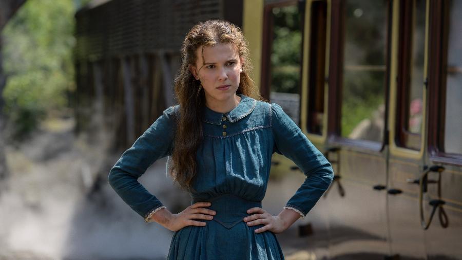 """Millie Bobby Brown como Enola no filme """"Enola Holmes"""", da Netflix - ALEX BAILEY/LEGENDARY"""