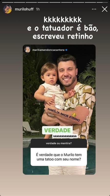 Murilo print - Reprodução / Instagram - Reprodução / Instagram