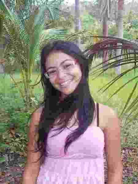 Maria Clara Souza com 17 anos em sua cidade natal, Água Doce - Arquivo pessoal - Arquivo pessoal