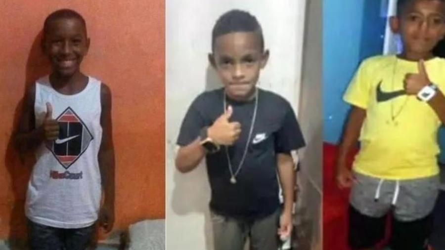 O que se sabe do desaparecimento em Belford Roxo dos meninos Lucas Matheus, Alexandre da Silva e  Fernando Henrique - Imagem: Montagem/UOL