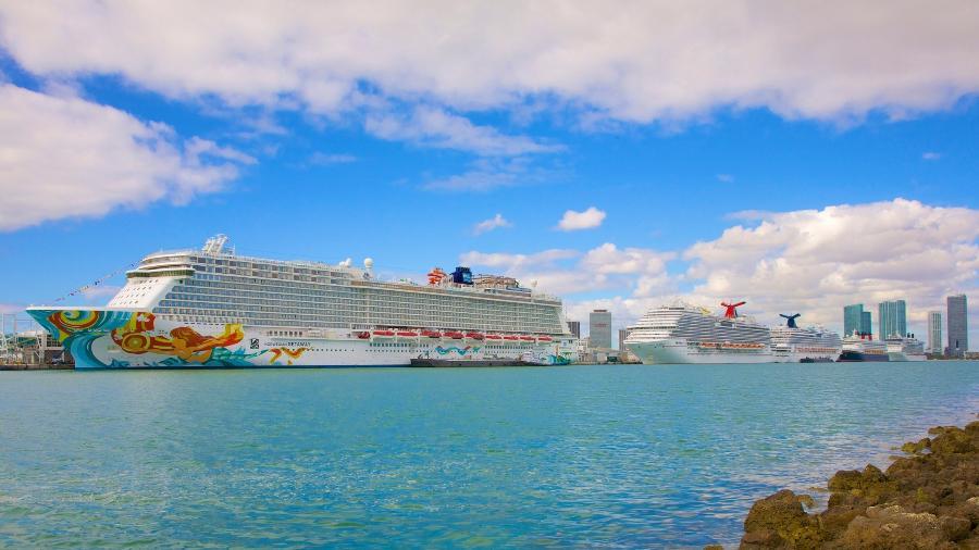 Navios no porto de Miami Dodge Island - Barry Winiker/Getty Images