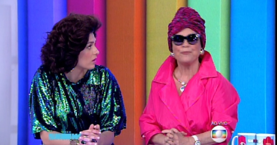 Regina Duarte revive a Viúva Porcina no