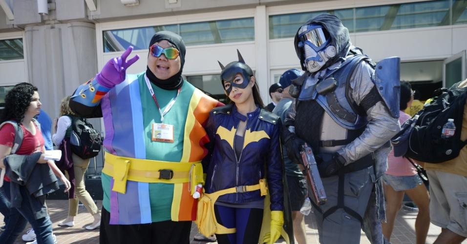 9.jul.2015 - Cosplayers posam para foto durante o primeiro dia da Comic-Con, em San Diego, na Califórnia