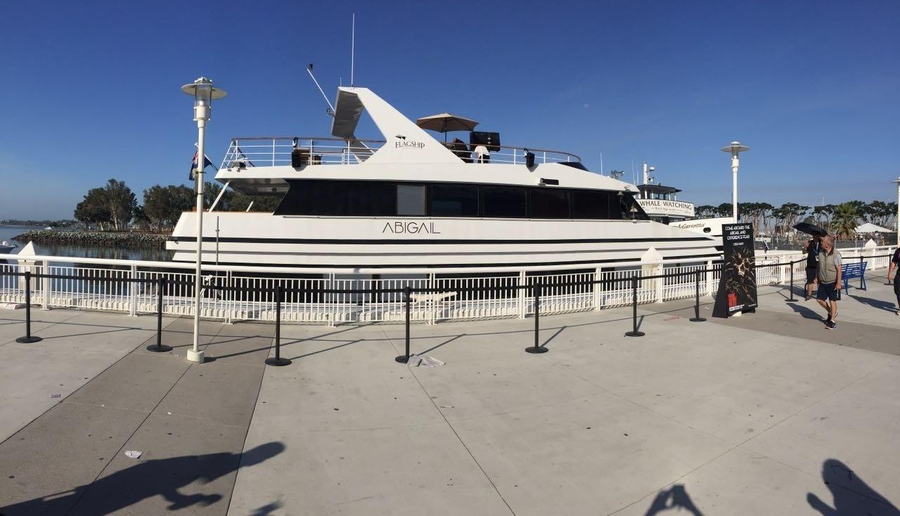 23.jul.2016- Ancorado na Marina está o Abigail, barco da série