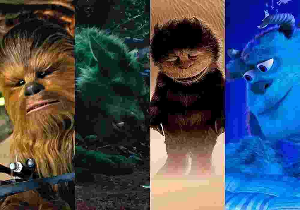 """Cenas dos filmes """"Star Wars: O Despertar da Força"""" (2015), de J.J. Abrams, """"Meu Amigo, O Dragão"""" (2016), de David Lowery, """"Onde Vivem os Monstros"""" (2009), de Spike Jonze e """"Monstros S.A."""" (2001), de Pete Docter - Montagem/Reprodução"""
