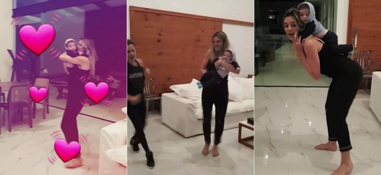 Rafa Brites dança funk com o filho, Rocco, de cinco meses - Reprodução/Instagram/rafabrites